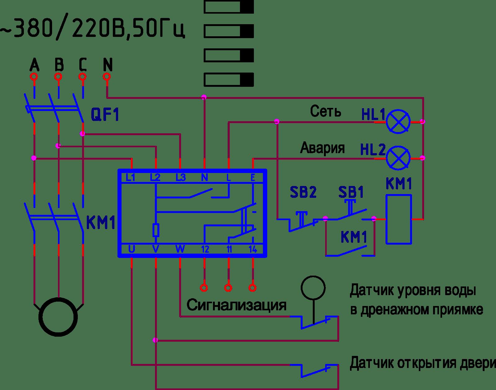 Контроль фазного напряжения. РНЛ-1.