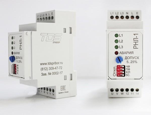 Реле контроля фаз и напряжения РНЛ-1
