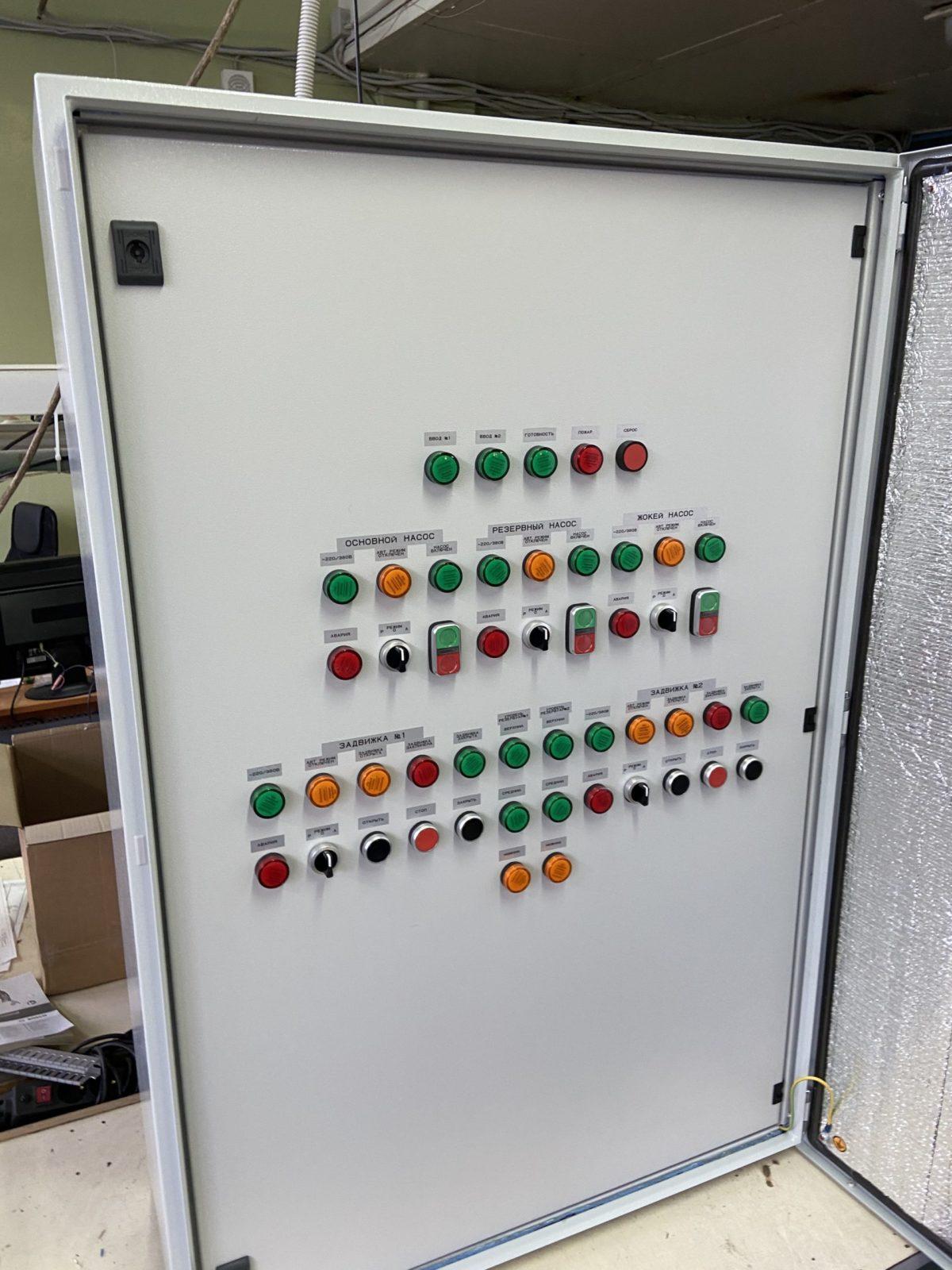 Шкаф управления пожарными насосами по схеме (Основной +Резервный+жокей+АВР) ШУПН2/1-25/x-АЛЖ (IP54)
