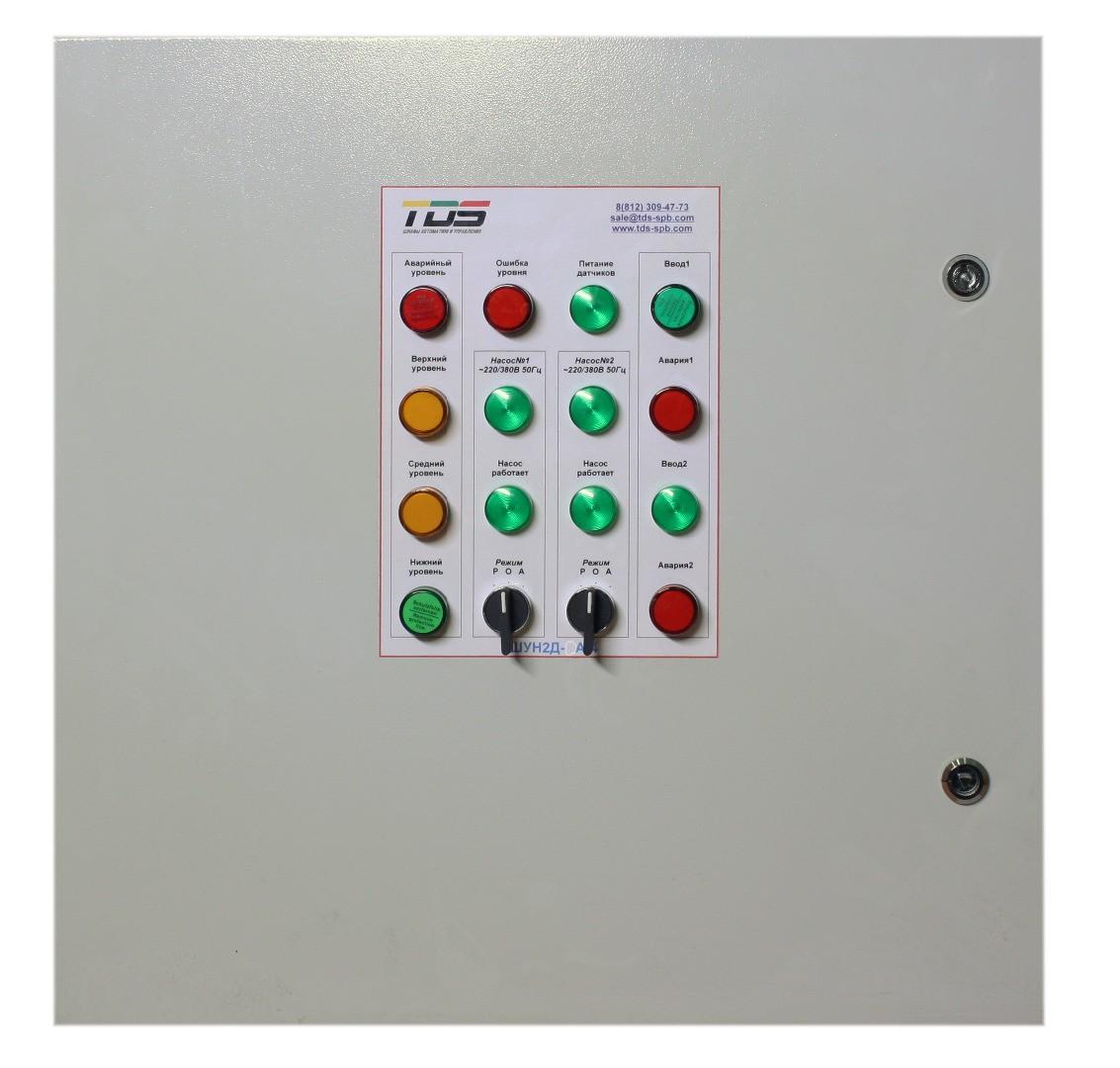 Шкаф управления дренажным насосом с прямым пуском и АВР ШУН2Д-А-1 (IP54)
