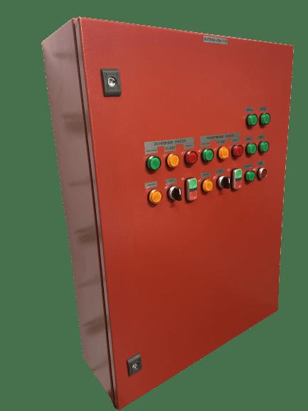 Шкаф управления двумя пожарными насосами с плавным пуском ШУПН2-25-П (IP54)