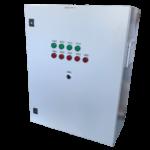 Шкаф управления 3 повысительными насосами с частотно-каскадным регулированием (1ЧП) и ШУН3П-РЛ-ХХ (IP54)