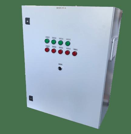 Шкаф управления тремя повысительными насосами с частотно-каскадным регулированием ШУН3П-4-РЛ(IP54)